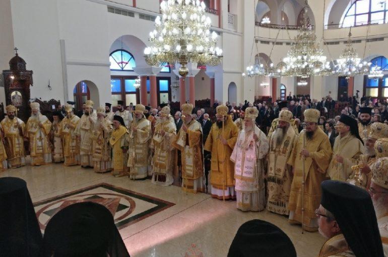 Πανορθόδοξο Αρχιερατικό Συλλείτουργο για τον Αρχιεπίσκοπο Κύπρου (ΦΩΤΟ)