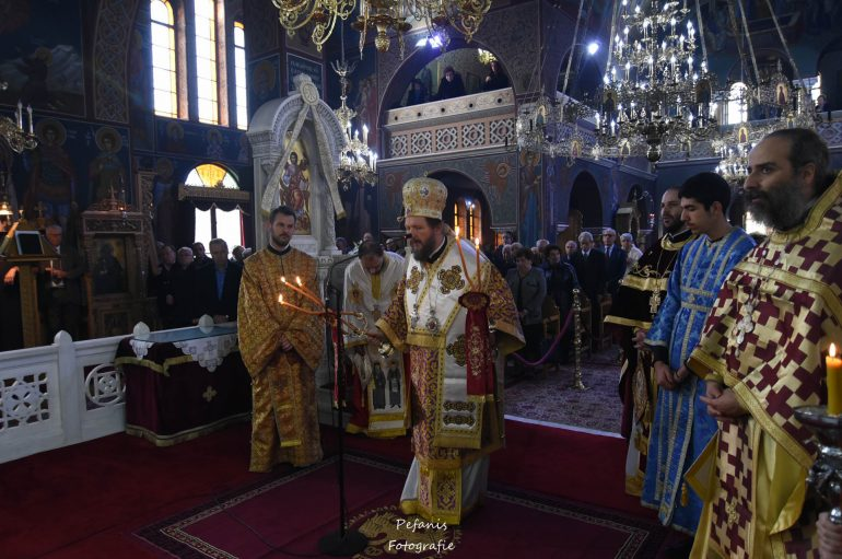 Ο Επίσκοπος Σαλώνων στον Ι. Ναό Μεταμορφώσεως Σωτήρος Καλλιθέας (ΦΩΤΟ)