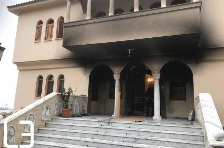 Επίθεση με γκαζάκια στα γραφεία της Μητρόπολης Νεαπόλεως (ΦΩΤΟ – ΒΙΝΤΕΟ)