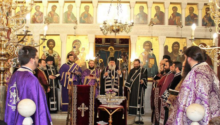 Αρχιερατικό Ευχέλαιο στον Ι. Ναό Αγίου Ελευθερίου Σταυρουπόλεως (ΦΩΤΟ)