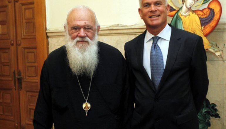 Συνάντηση Αρχιεπισκόπου με το νέο Πρέσβη του Λουξεμβούργου (ΦΩΤΟ)