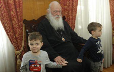 Παιδιά Παιδικού Σταθμού επισκέφθηκαν τον Αρχιεπίσκοπο (ΦΩΤΟ)