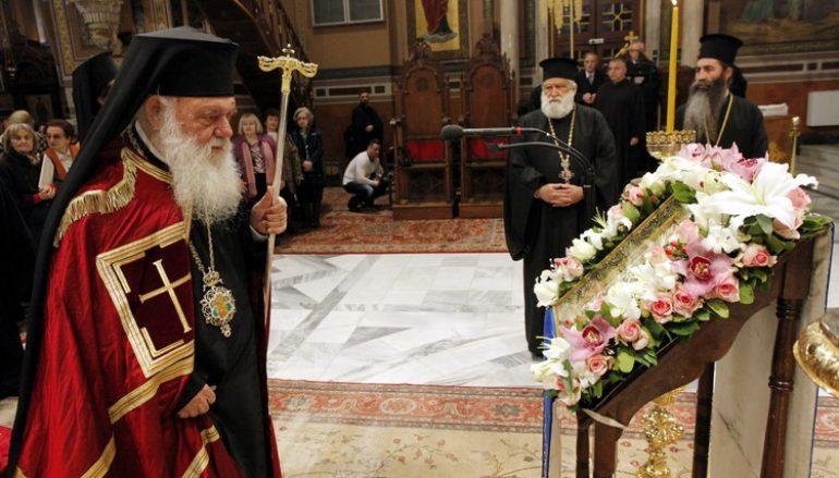 Η Ακολουθία του Ακαθίστου Ύμνου από τον Αρχιεπίσκοπο Ιερώνυμο (ΦΩΤΟ)