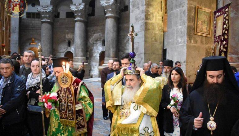 Κυριακή της Σταυροπροσκυνήσεως στο Πατριαρχείο Ιεροσολύμων (ΦΩΤΟ)