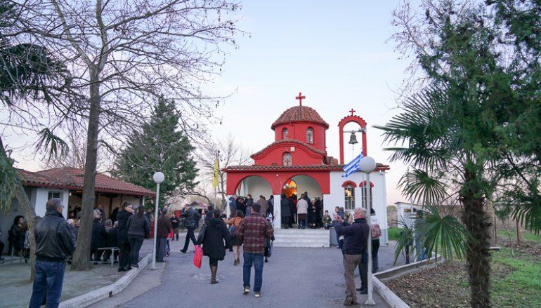 Ο Μητροπολίτης Βεροίας στο Παρεκκλήσιο της Αγ. Ειρήνης Χρυσοβαλάντου Σχοινά
