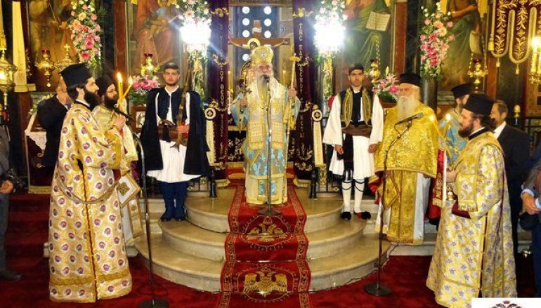 Πανηγύρισε ο Μητροπολιτικός Ναός Ευαγγελισμού της Θεοτόκου Σπάρτης (ΦΩΤΟ)