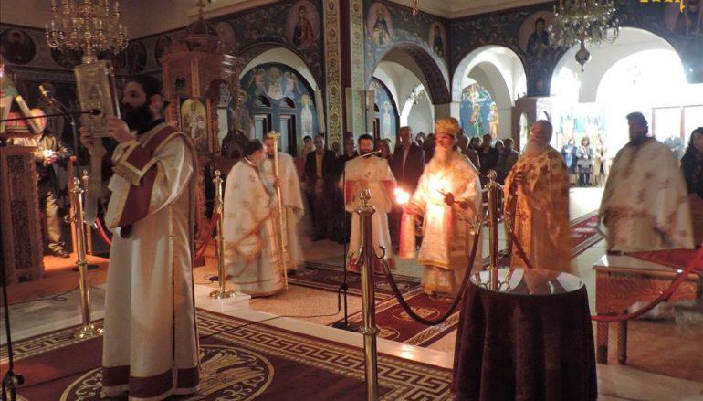 Ο Ακάθιστος Ύμνος στην Ιερά Μητρόπολη Άρτης (ΦΩΤΟ)