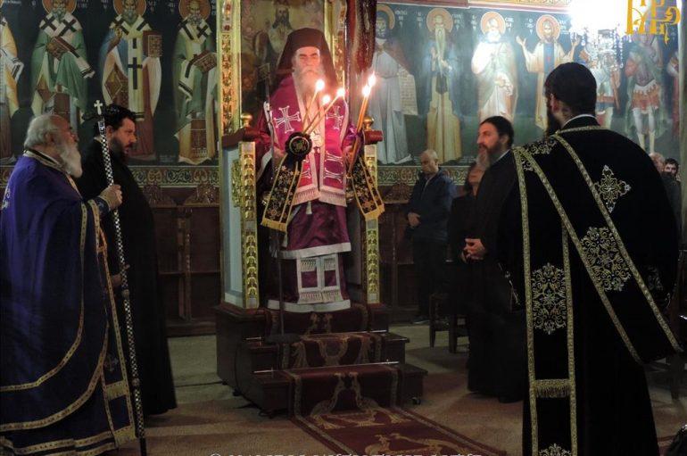 Αρχιερατική Προηγιασμένη Θ. Λειτουργία στον Αγ. Γεώργιο Άρτης (ΦΩΤΟ)