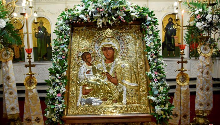 Το Αιγίνιο Πιερίας υποδέχθηκε την Εικόνα της Παναγίας Τριχερούσας (ΦΩΤΟ)