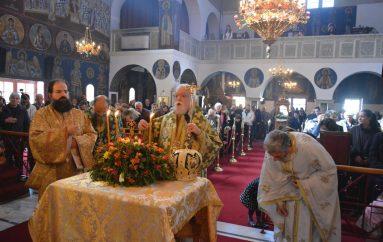 Κυριακή της Σταυροπροσκυνήσεως στον Ι. Ναό Εσταυρωμένου Ταύρου (ΦΩΤΟ)
