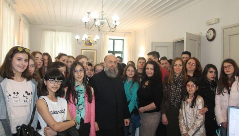 Επίσκεψη χορωδιών της Σερβίας στον Μητροπολίτη Θεσσαλιώτιδος (ΦΩΤΟ)