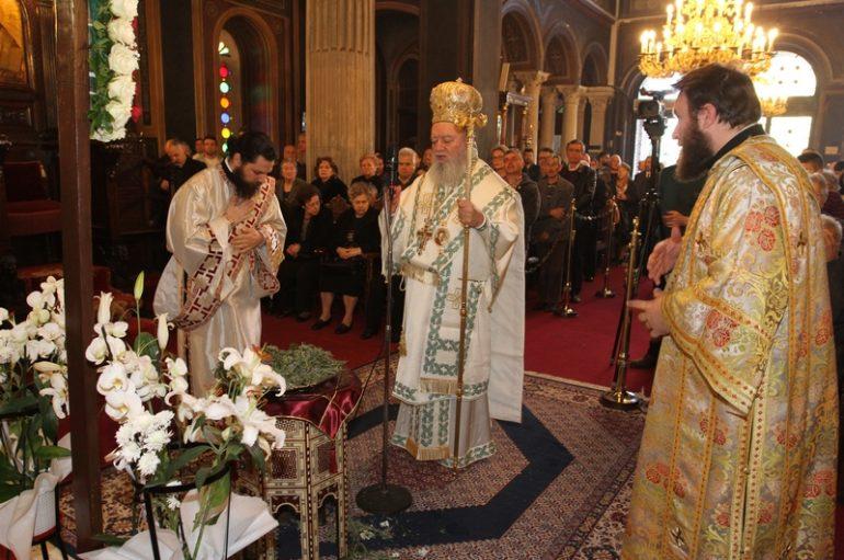 Κυριακή της Σταυροπροσκυνήσεως στην Ι. Μητρόπολη Χαλκίδος (ΦΩΤΟ)