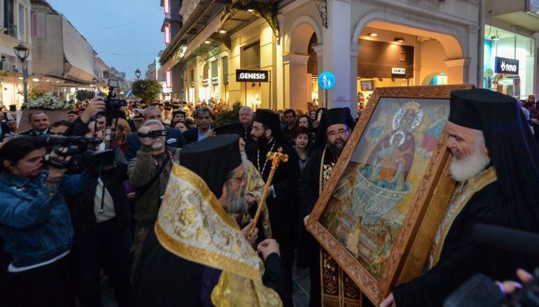 Την Παναγία Πεταλιδιώτισσα υποδέχθηκε η Καλαμάτα (ΦΩΤΟ)
