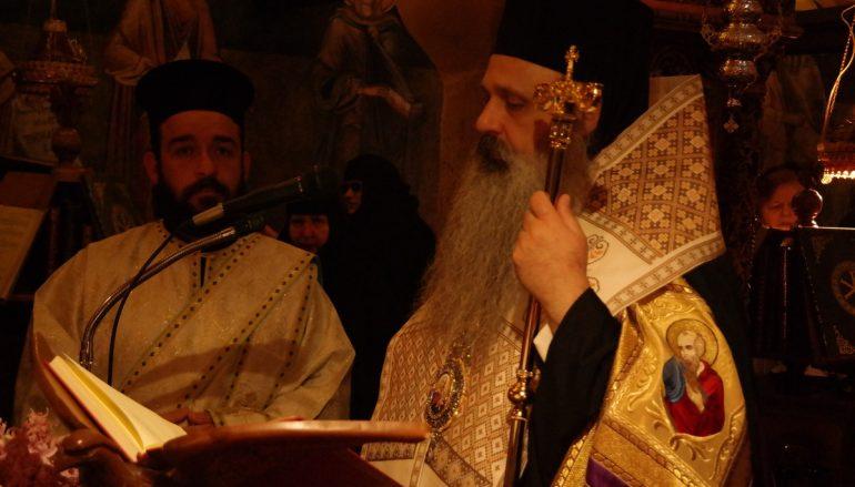Η Γ΄ Στάση των Χαιρετισμών στην Ι. Μονή Βυτουμά (ΦΩΤΟ)