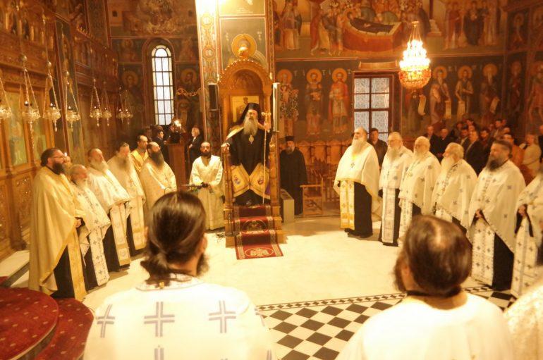 Εσπερινός Αποδόσεως του Ευαγγελισμού στην Ι. Μ. Σταγών (ΦΩΤΟ)