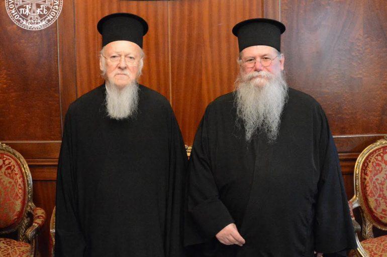 Ο Μητροπολίτης Φιλίππων, Νεαπόλεως και Θάσου στον Οικ. Πατριάρχη