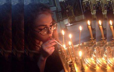 Σάλος με νεαρή που άναψε τσιγάρο με το Άγιο Φως μέσα σε Εκκλησία!
