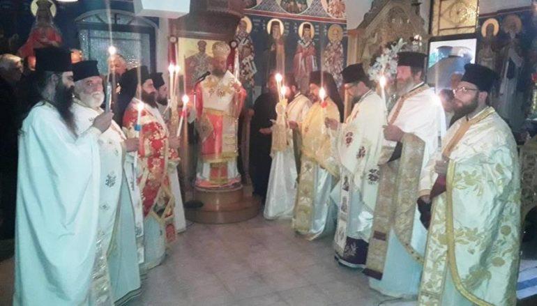 Εσπερινός των Αγ. Ραφαήλ, Νικολάου και Ειρήνης στην Καρδίτσα (ΦΩΤΟ)