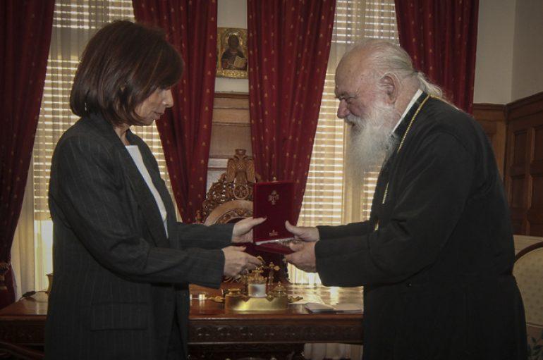 Η Πρέσβης του Λιβάνου στον Αρχιεπίσκοπο Ιερώνυμο (ΦΩΤΟ)