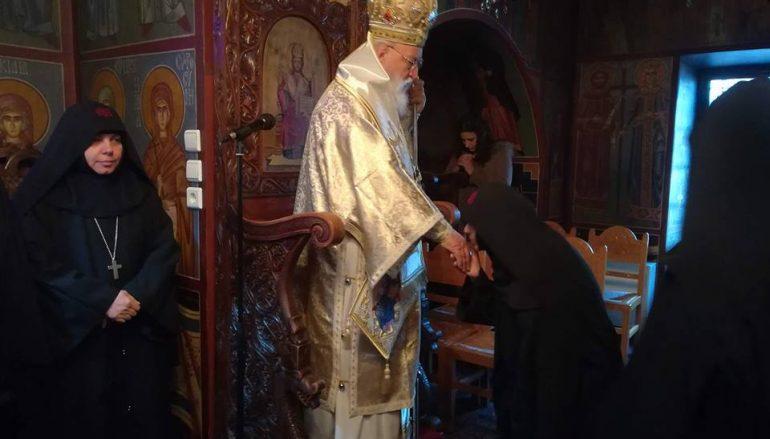 Αρχιερατική Θ. Λειτουργία στην Ι. Μονή Κοιμήσεως Θεοτόκου Μαλεβής (ΦΩΤΟ)
