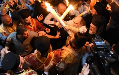 Η Αφή του Αγίου Φωτός στον Πανάγιο Τάφο (ΦΩΤΟ)