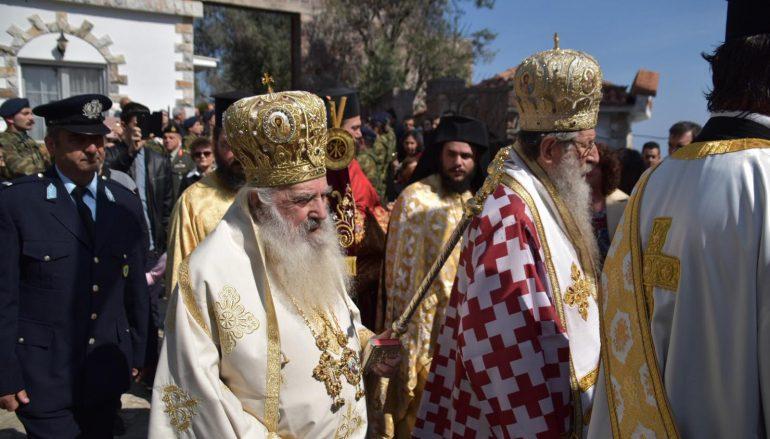Με λαμπρότητα πανηγύρισε η Ι. Μονή Αγίου Ραφαήλ στη Μυτιλήνη (ΦΩΤΟ)