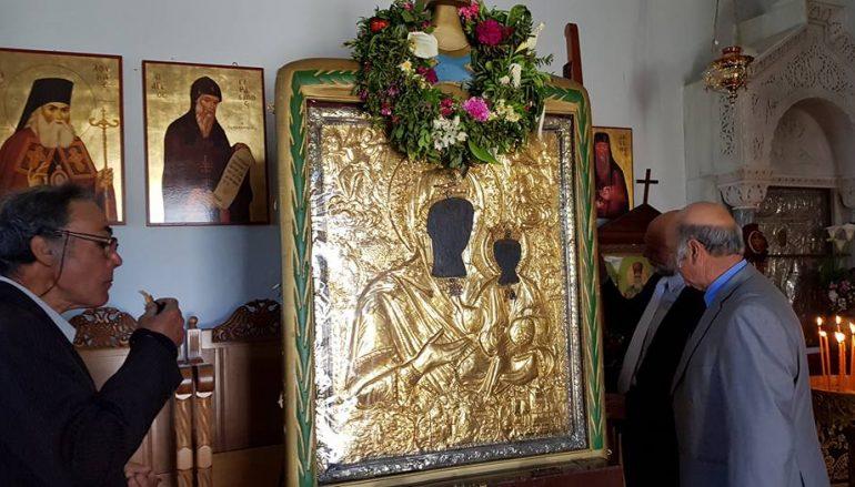 Η Παναγία Μυρτιδιώτισσα επέστρεψε στο Θρόνο Της (ΦΩΤΟ)