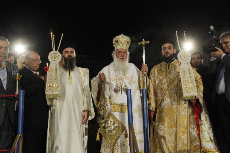 Η Ανάσταση στον Καθεδρικό Ιερό Ναό των Αθηνών (ΦΩΤΟ)