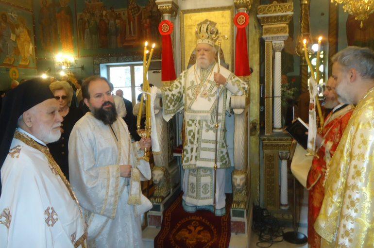 Ο Μητροπολίτης Κορωνείας στον Ι. Ν. Αγ. Κωνσταντίνου Κολωνού (ΦΩΤΟ)