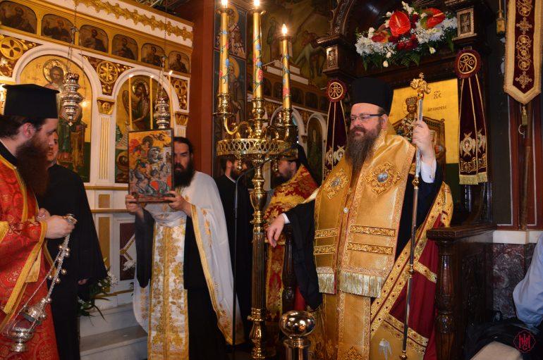 Αρχιερατικός Εσπερινός στον Ι. Ναό Αγίου Γεωργίου Νέας Περάμου (ΦΩΤΟ)