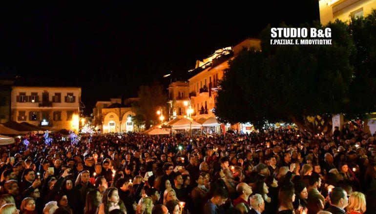 Χιλιάδες πιστών στη συνάντηση των Επιταφίων στο Ναύπλιο (ΦΩΤΟ)