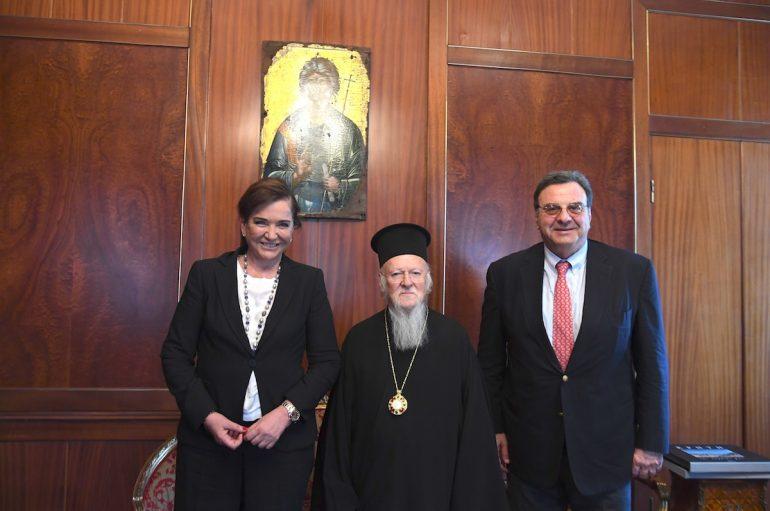 H Ντόρα Μπακογιάννη στο Οικουμενικό Πατριαρχείο (ΦΩΤΟ)