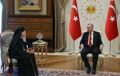 Συνάντηση του Οικ. Πατριάρχη με τον Ερντογάν στην Άγκυρα (ΦΩΤΟ)