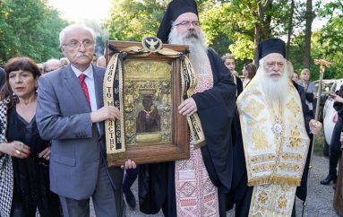 Η Εικόνα της Παναγίας Σουμελά στον Αγ. Γεώργιο Περιστερεώτα (ΦΩΤΟ – ΒΙΝΤΕΟ)