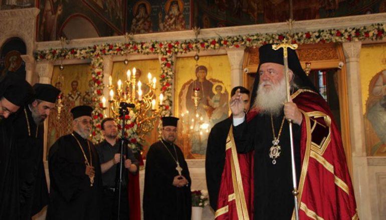 Ο Αρχιεπίσκοπος στον Ι. Ν. Αγίου Γεωργίου Κυνοσάργους (ΦΩΤΟ)