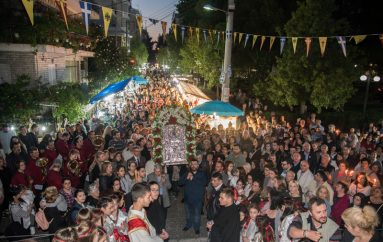 Λιτάνευση της Ιεράς Εικόνος Ζωοδόχου Πηγής στην Καλογραίζα (ΦΩΤΟ)