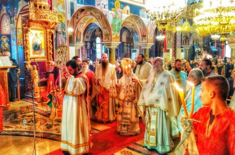 Με λαμπρότητα πανηγύρισε ο Μητροπολιτικός Ναός Αγρινίου (ΦΩΤΟ)