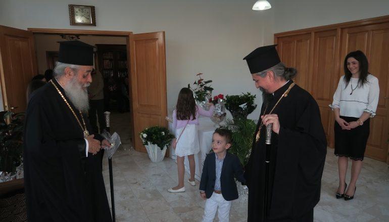 Ο Μητροπολίτης Φθιώτιδος στον εορτάζοντα Μητροπολίτη Καρπενησίου