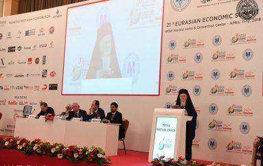 Ο Οικ. Πατριάρχης ομιλητής στην 21η Ευρασιατική Οικονομική Διάσκεψη