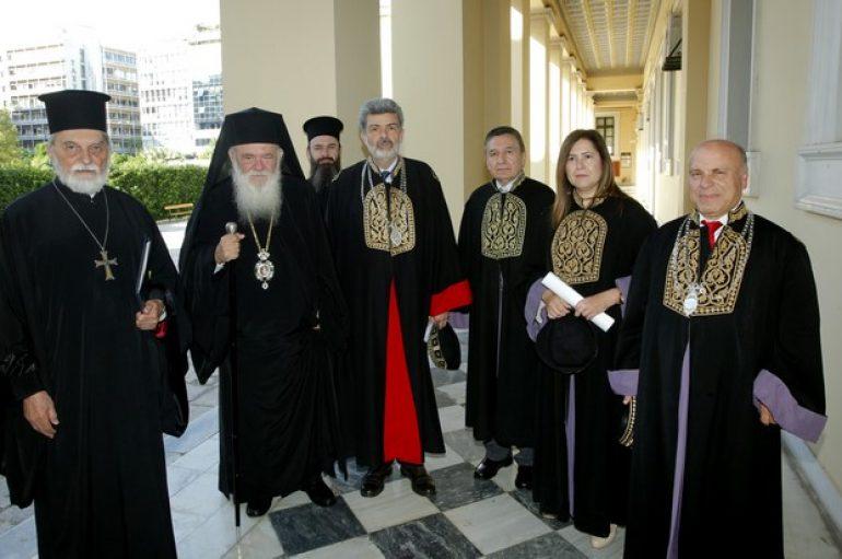 Ο Αρχιεπίσκοπος στην αναγόρευση του π. Γεωργίου Τσέτση σε επίτιμο διδάκτορα