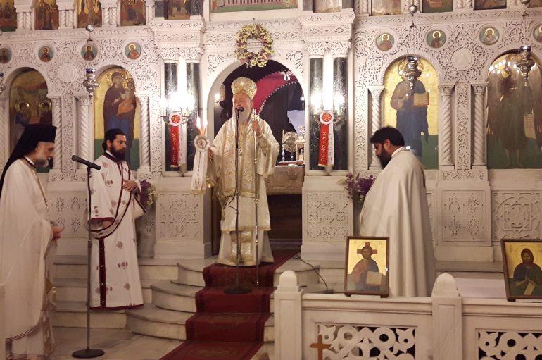 Αγρυπνία επί τη εορτή της Αποδόσεως του Πάσχα στην Ι. Μ. Χαλκίδος (ΦΩΤΟ)