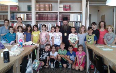 Μαθητές υποδέχθηκε ο Μητροπολίτης Χίου στη Βιβλιοθήκη της Μητροπόλεως