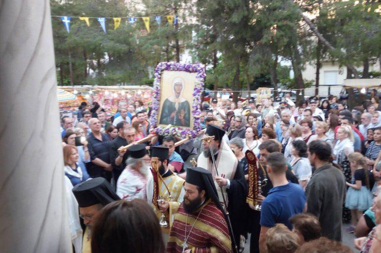 Μεθέορτος Εσπερινός της Οσίας Ματρώνης στη Νέα Ιωνία (ΦΩΤΟ)