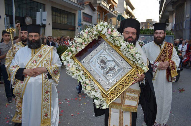 Η Κομοτηνή υποδέχθηκε την Εικόνα της Παναγίας Φανερωμένης (ΦΩΤΟ)
