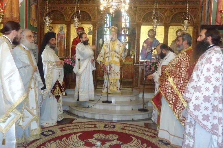 Αρχιερατική Θεία Λειτουργία στον Ι. Ν. Αγίας Μαύρας Ηλιουπόλεως (ΦΩΤΟ)