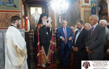 Ο Αρχιεπίσκοπος Αμερικής στον Εσπερινό του Ι. Ν. Αγίας Τριάδας Ξηροκαμπίου