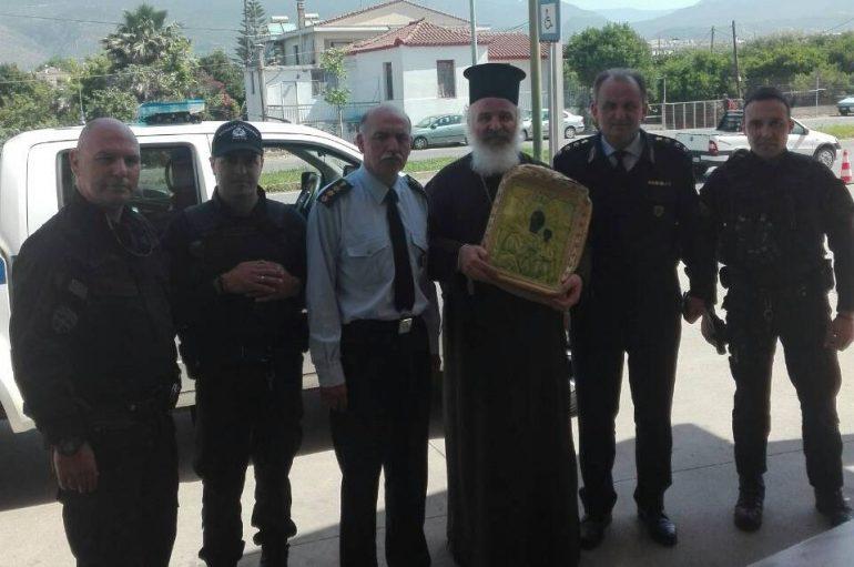 Η Παναγία Βουλκανιώτισσα επέστρεψε από την Καλαμάτα στο θρόνο της (ΦΩΤΟ)