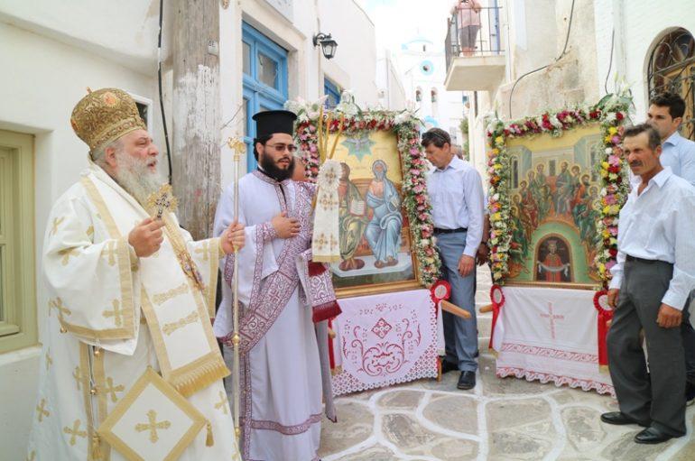 Η εορτή του Αγίου Πνεύματος στο νησί της Πάρου (ΦΩΤΟ)