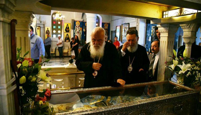 Επίσκεψη του Αρχιεπισκόπου Ιερωνύμου στην Ι. Μ. Χαλκίδος (ΦΩΤΟ)