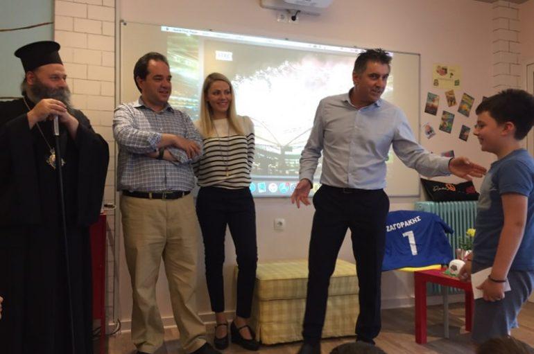 Ο Ζαγοράκης άνοιξε την καρδιά του στα παιδιά της Αποστολής στα Γιάννενα
